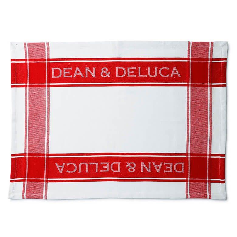 DEAN & DELUCA ティータオル レッド