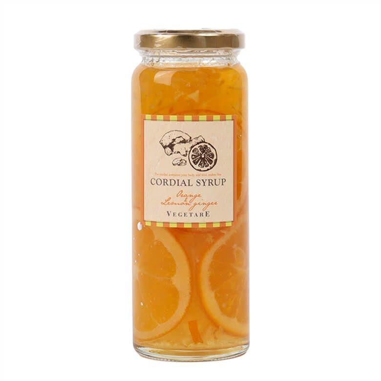 ベジターレ  コーディアルシロップ 国産オレンジ&レモンジンジャー