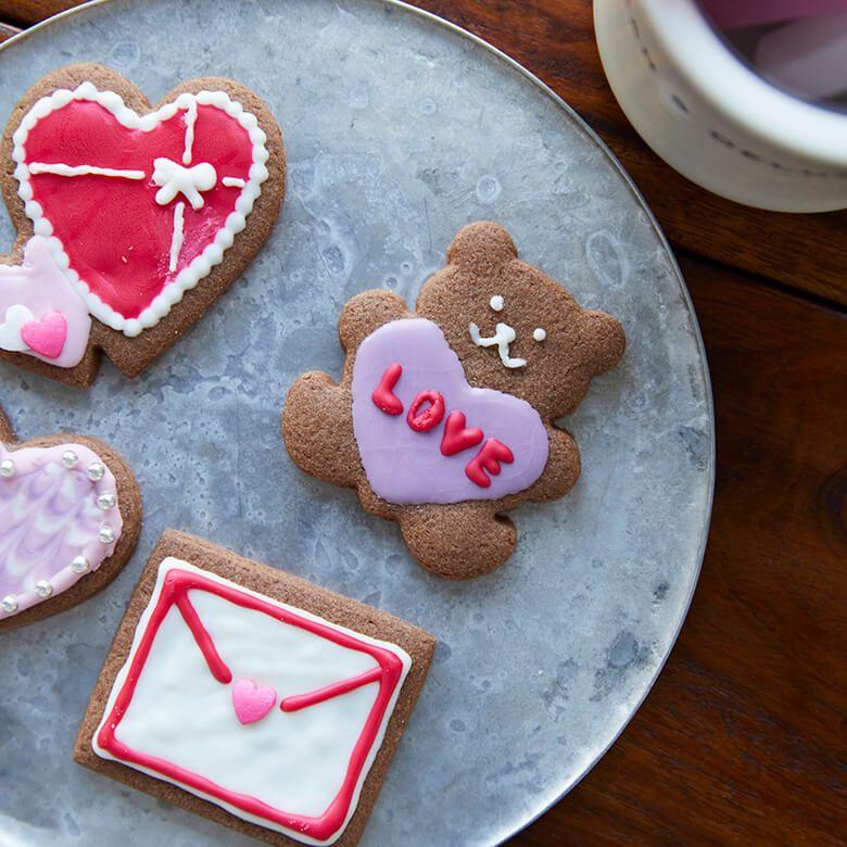 DEAN & DELUCA クッキーデコレーションキット (ハートアソート)【賞味期限2021年6月1日】