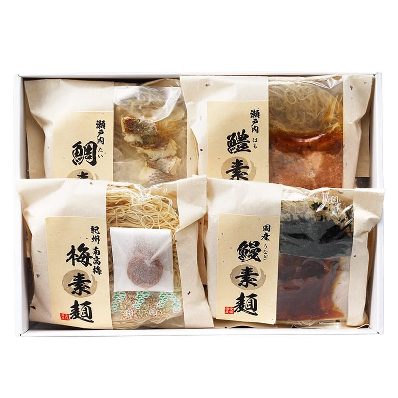 愛媛海産 夏の贅沢素麺づくし【賞味期限2021年11月10日】