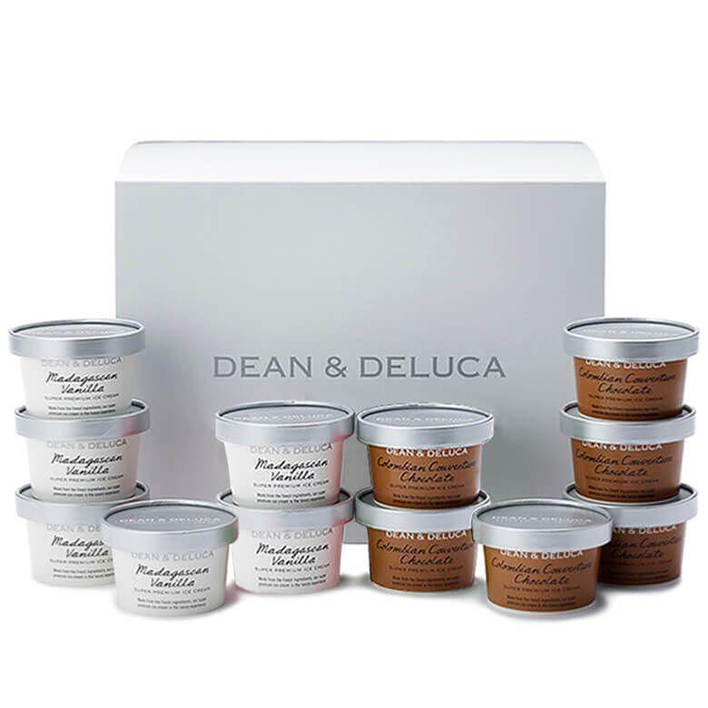 【オンライン限定・週末お届け】DEAN & DELUCA  プレミアムアイスクリーム(12個入)バニラ&チョコレート