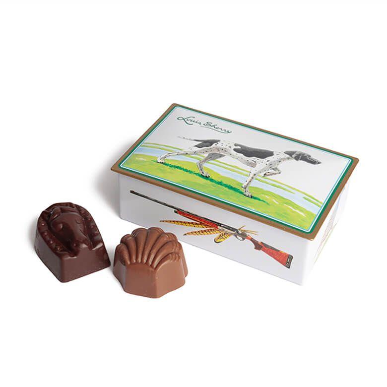 ルイス・シェリー チョコレート缶 2粒入り(狩猟犬)