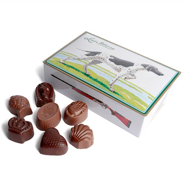 ルイス・シェリー チョコレート缶 12粒入り(狩猟犬)【賞味期限2021年10月24日】