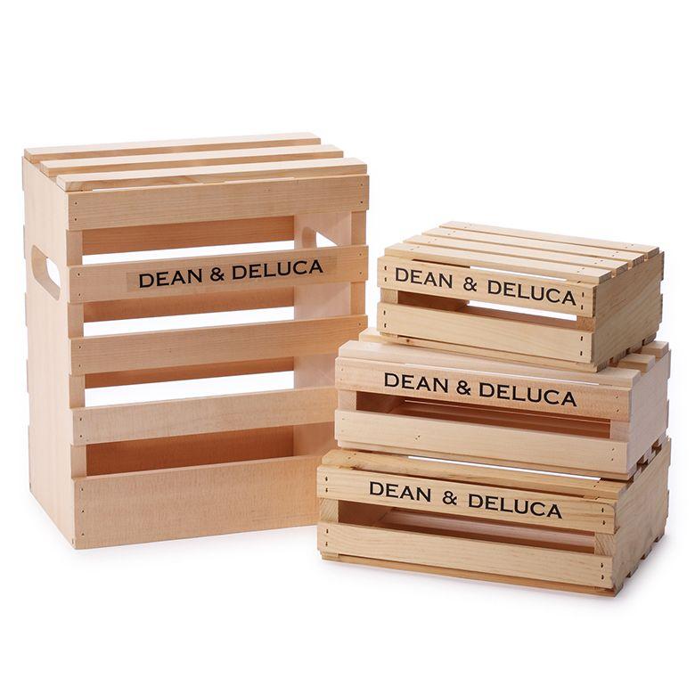 DEAN & DELUCA ウッドクレートボックス Lサイズ
