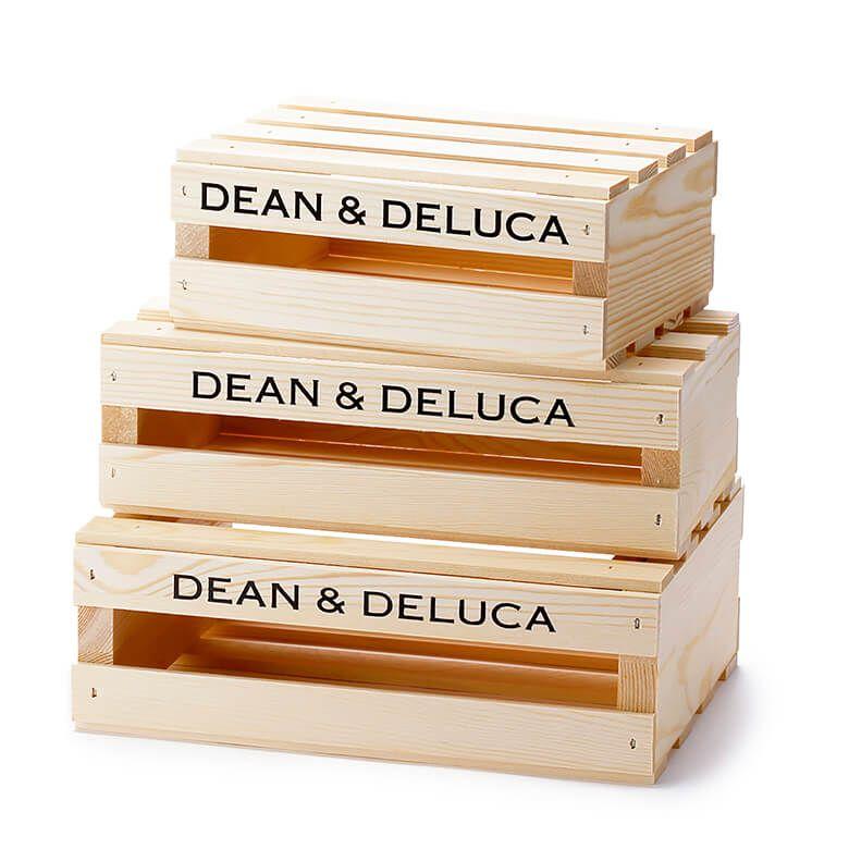 【オンラインストア限定】DEAN & DELUCA ウッドクレートボックス 3個セット