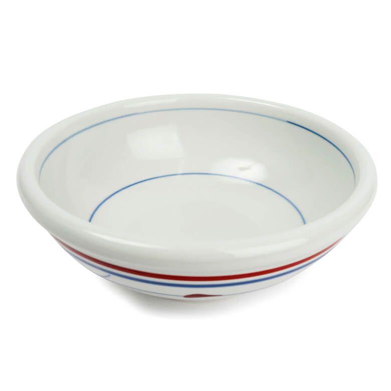 梅山窯 玉縁鉢 赤線三つ葉7寸