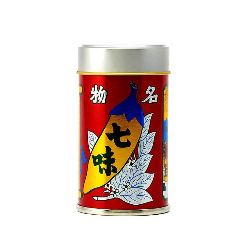 八幡屋礒五郎 七味唐辛子 中辛缶