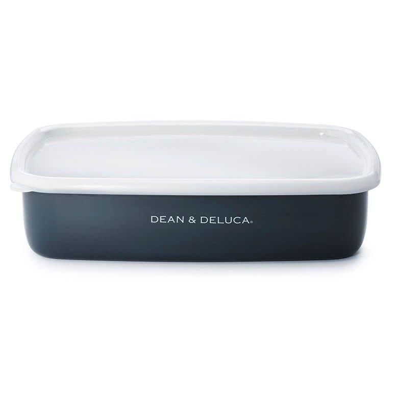 DEAN & DELUCA ホーローコンテナーL チャコールグレー