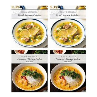 【オンラインストア限定】DEAN & DELUCA ミールスープ4点セット(ラクサ&レモンチキン)
