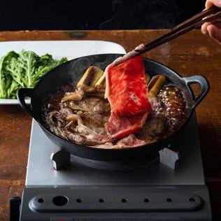 【11月26日お届け】京中 京中式熟成牛肉贈答用すき焼き約400g