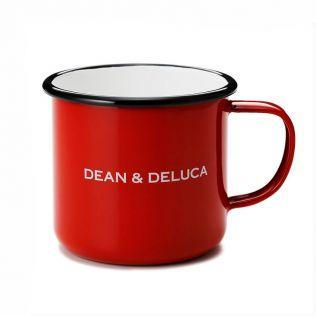 DEAN & DELUCA ホーローマグカップ レッド 8cm