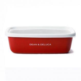 DEAN & DELUCA ホーローコンテナーレッド M