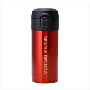 DEAN & DELUCA ワンタッチ栓スリムボトル レッド200ml