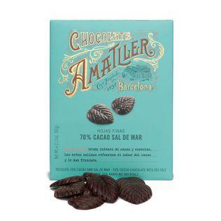 アマリエ リーフ型 70%ダークチョコレート海塩