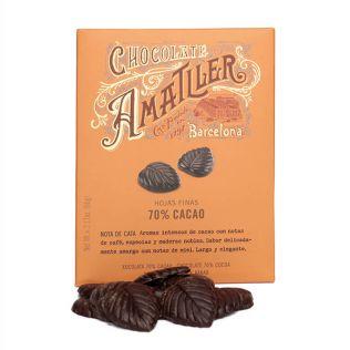 アマリエ リーフ型 70%ダークチョコ