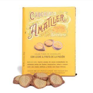 アマリエ リーフ型 ミルク&パッションフルーツチョコレート