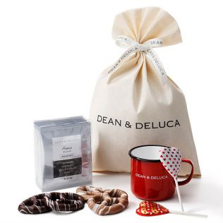 DEAN & DELUCA レッドホーローマグ&チョコレートギフト
