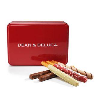 DEAN & DELUCA チョコレートカバードプレッツェル アソート赤缶【賞味期限2020年12月24日】
