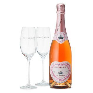 DEAN & DELUCA ロゼシャンパンとグラスのセット