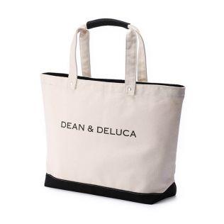 DEAN & DELUCA ブラック&ナチュラル キャンバストートバッグ