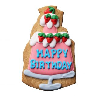 DEAN & DELUCA デコラティブクッキー バースデーイチゴショートケーキ